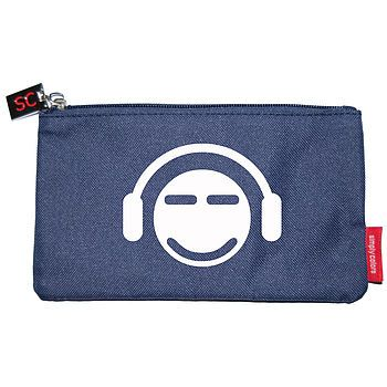 Personalised Pencil Case - Navy/Smiley 11 illustration