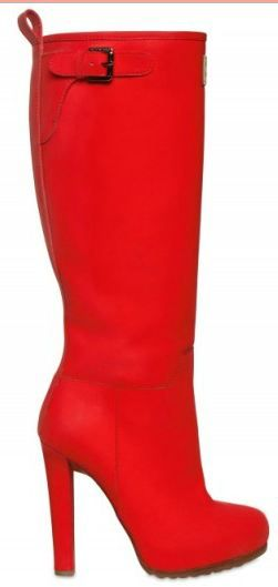 Rain should never ruin your outfit coordination again with high heel rain boots.