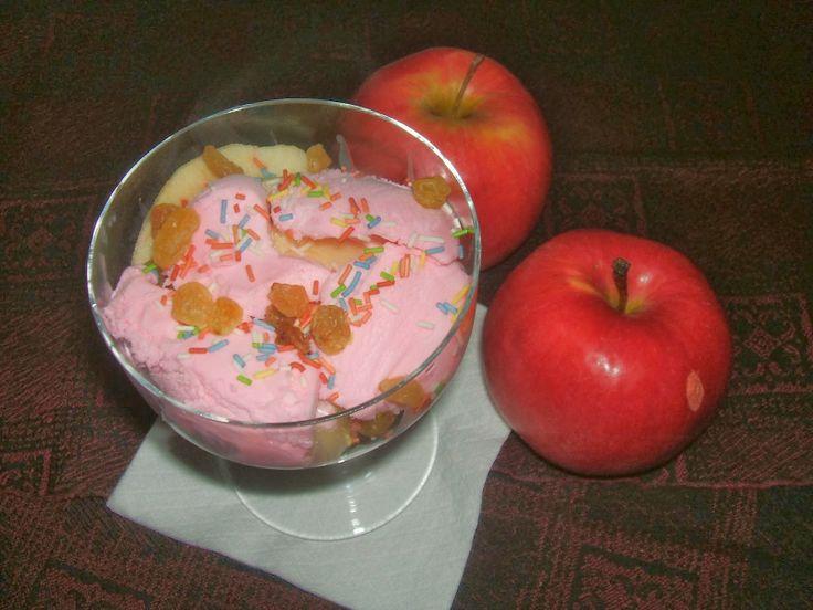 Sült almás fagylalt