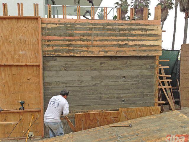 Wood Board Concrete Construction Outdoor Design