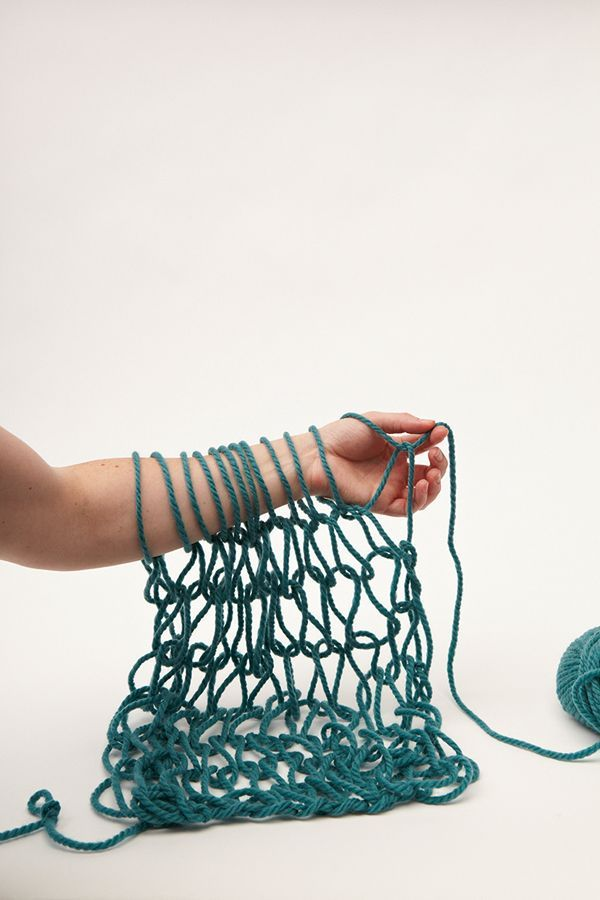 Arm knitting, knitting technique to try in 2015 - just one of 50 crafty things to do from Mollie Makes