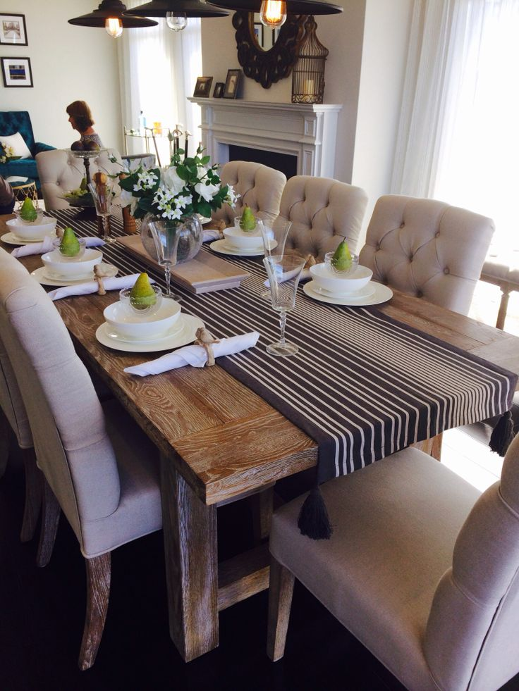 Plunkett - The New Hampton Love this dining table! | Decor ...