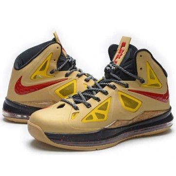 Nike Lebron 10 X Yellow Red Black 2013