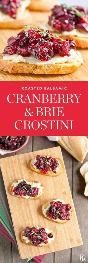 roasted balsamic cranberry and brie crostini.