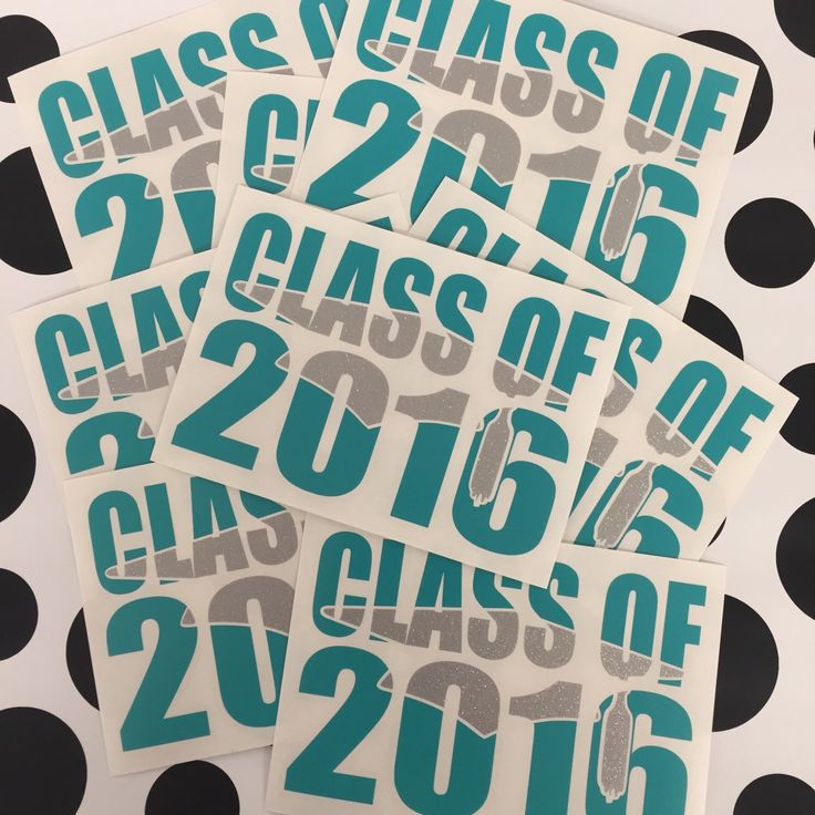 Graduation decal any year car decal sticker by graphicsbykodi on etsy https