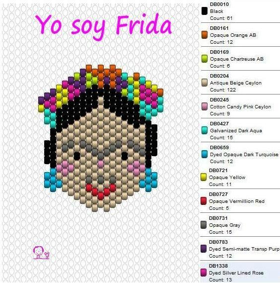 DIY : la breloque Frida en Brick Stitch