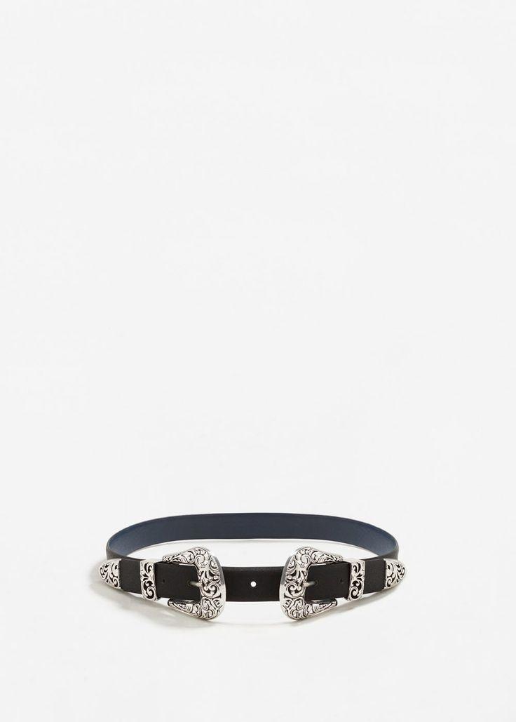 Double buckle belt | MANGO