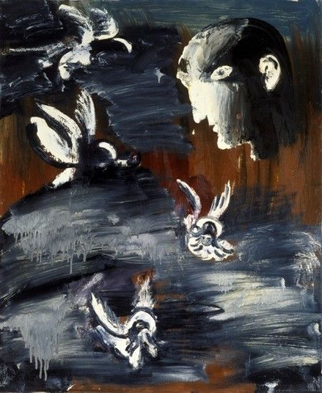 <em>Profile with cherubs</em>, 1991