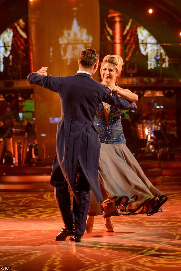 Natural: Hollyoaks star Gemma Atkinson, 32, and dance partner Aljaz Waltzing to an Italian version of A Time For Us by Josh Groban