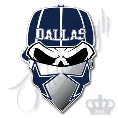 "Dallas ""Da Boys"" Skull Football Vinyl Decal Sticker 