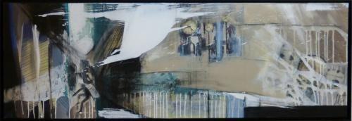 """nine-eleven"", Acrylcollage, Monika Stoffel"