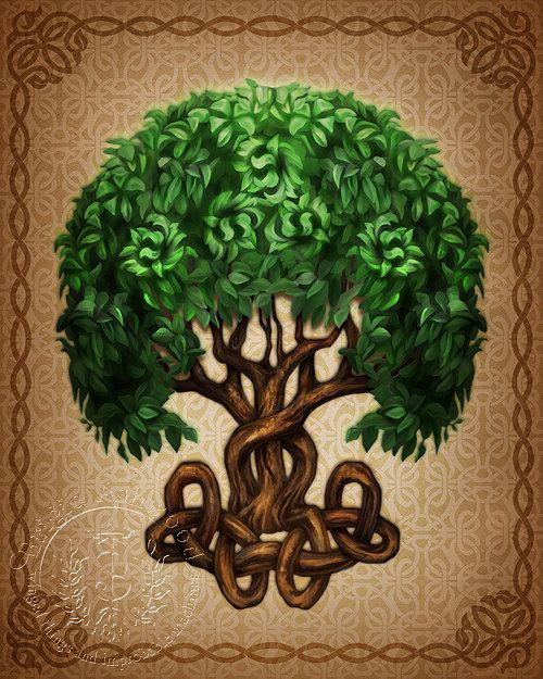 Celtic Tree of Life - Pagan Wiccan Print - Brigid Ashwood. Ashwood is the traditional wood for the yule log/fire.