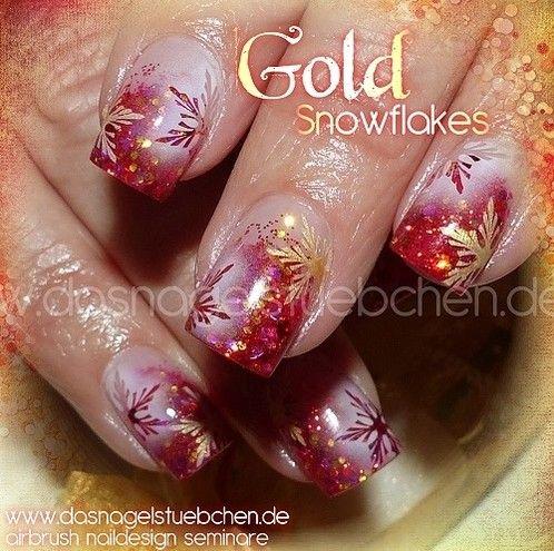 Goldene Schneeflöckchen