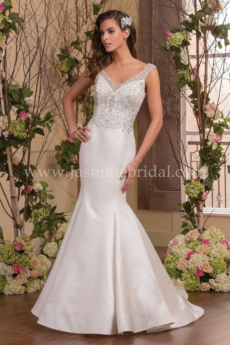 37 best Sexy Satin Bridal Gowns images on Pinterest Jasmine