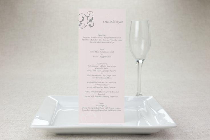 Flirty Flourish - Wedding Menu Card by MagnetStreet