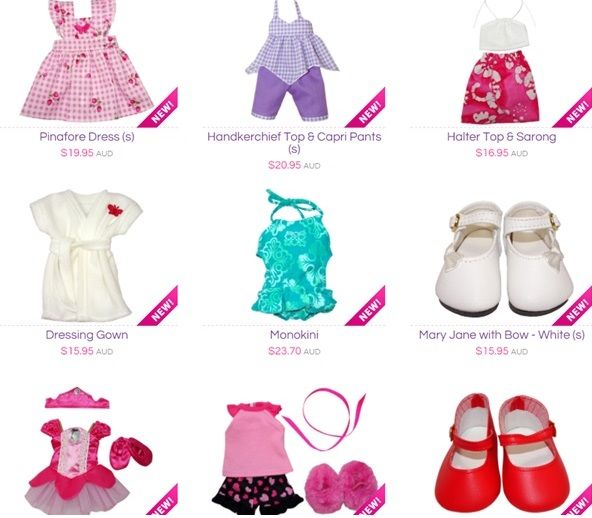 Want to see what's new at Rosie's Dolls Clothes? Then checkout my New Arrivals page to see all the new items in store.