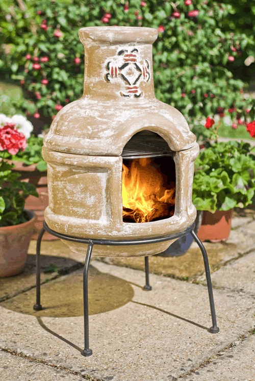 The 25 best southwestern chimineas ideas on pinterest - Chimeneas de barro ...