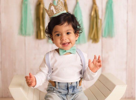 Eerste verjaardag kroon  1e verjaardag jongen Outfit voor