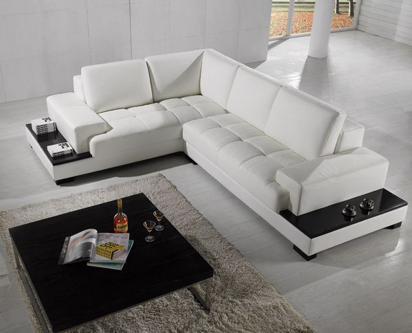 Divani Casa T71 Modern Leather Sectional Sofa With Images