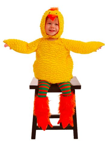 your little one will be cute as can be in this fluff the baby chick costume its really soft and includes body hood leggings shoe covers - Size 18 Halloween Costumes
