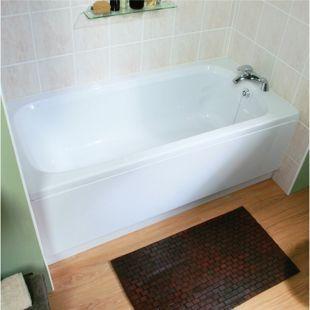 Wickes Aswan Spacesaver Straight Bath White 1500mm | Wickes.co.uk