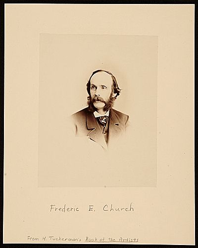 Citation: Frederic Edwin Church, ca. 1865-1867 / George Gardner Rockwood, photographer. [Artists portraits from Henry Tuckermans Book of the Artists...] [graphic] / [George Rockwood and Napoleon Sarony], Archives of American Art, Smithsonian Institution.