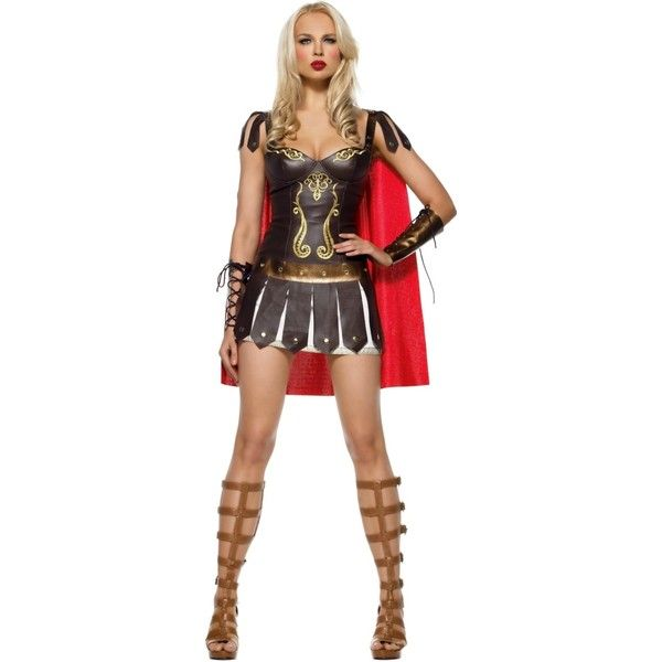 Warrior Princess Costume $68.88 - Warrior Halloween Costumes ($69) ❤ liked on Polyvore featuring costumes, disfraces, dolls, halloween costume, sexy adult costumes, sexy adult halloween costumes, xena costume, warrior princess adult costume and baby doll costume