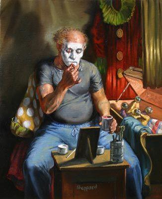 Clown Putting on Makeup, Joseph Sheppard http://musapietrasanta.it/content.php?menu=artisti