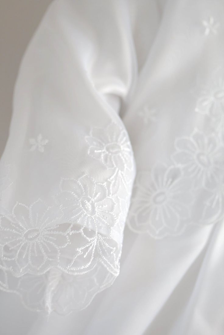 Christening Gown from Oli Prik with flower embroidery fabric at christeningwearcopenhagen.com Christening Gowns