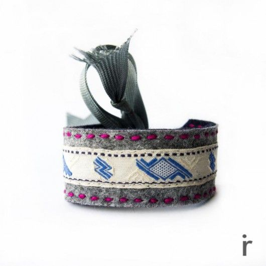 Filcowa Bransoletka na Tasiemce