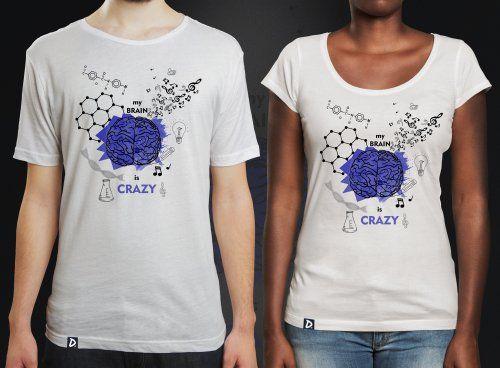 cdcd8a8729 Camiseta Cérebro na Doppel Store. Camisetas de ciência e literatura. Como  diria Carl Sagan