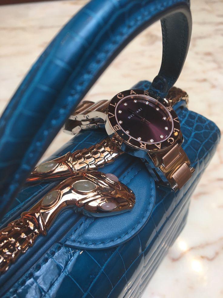 Bulgari handbag with Bulgari Bulgari watch.