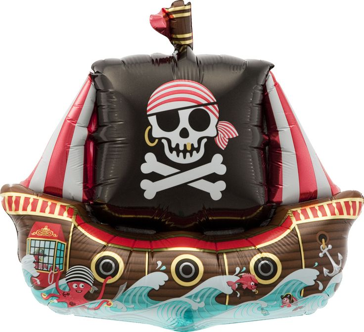 Our Pirate Balloons make such a fun statement! - Air-filled, easy self-sealed - No Helium Required - Reusable - Great for Party Favors Great for a Pirate Birthday Party!