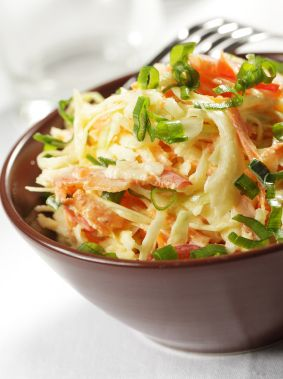 Reduced-Fat and Calorie Coleslaw
