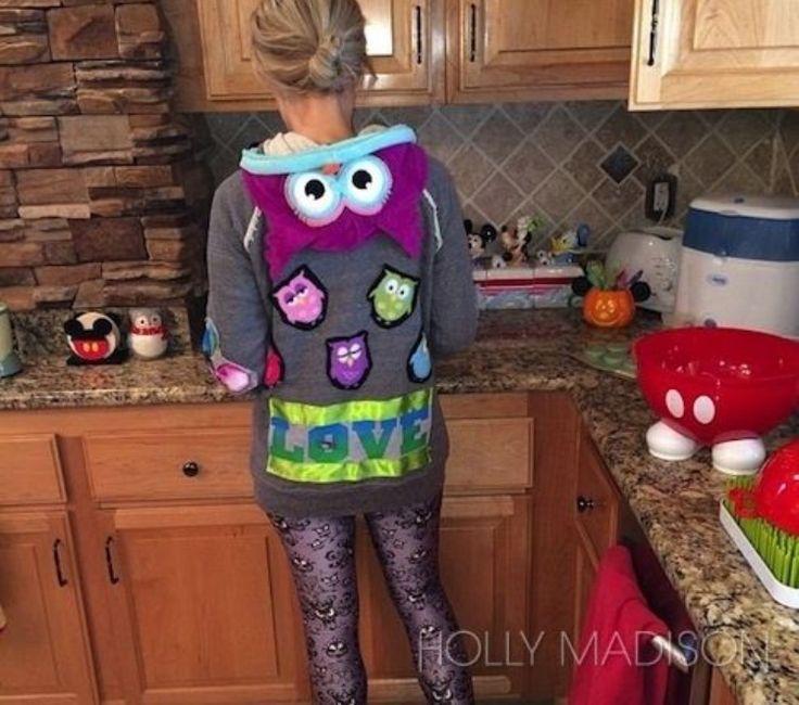 Holly Madison Halloween casual owls hoodies