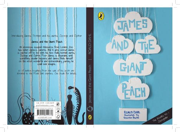 James and the Giant Peach book cover by Stephanie Davies, via Behance