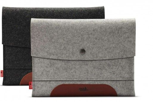 MERINO for the iPad Air |Tablet cases |  vegetable tanned leather / 100% wool felt By Pack & Smooch