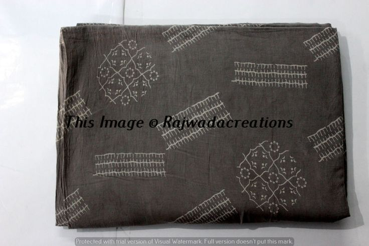 Indian 100% Cotton Running Hand Block Print  Voile Dressmaking Fabric 10 Yard