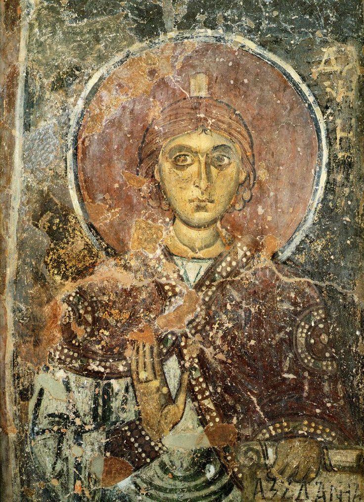 Пророк Даниил 1108 г. Собор Святой Софии, Новгород Фреска в куполе.