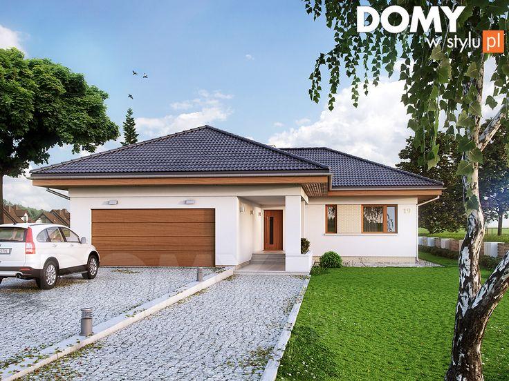 Projekt domu Kiwi - wizualizacja frontowa