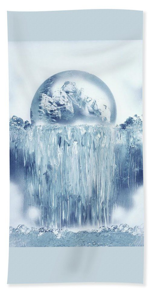 Printed with Fine Art spray painting image Ice Waterfall by Nandor Molnar (When you visit the Shop, change the size, orientation and image size as you wish)