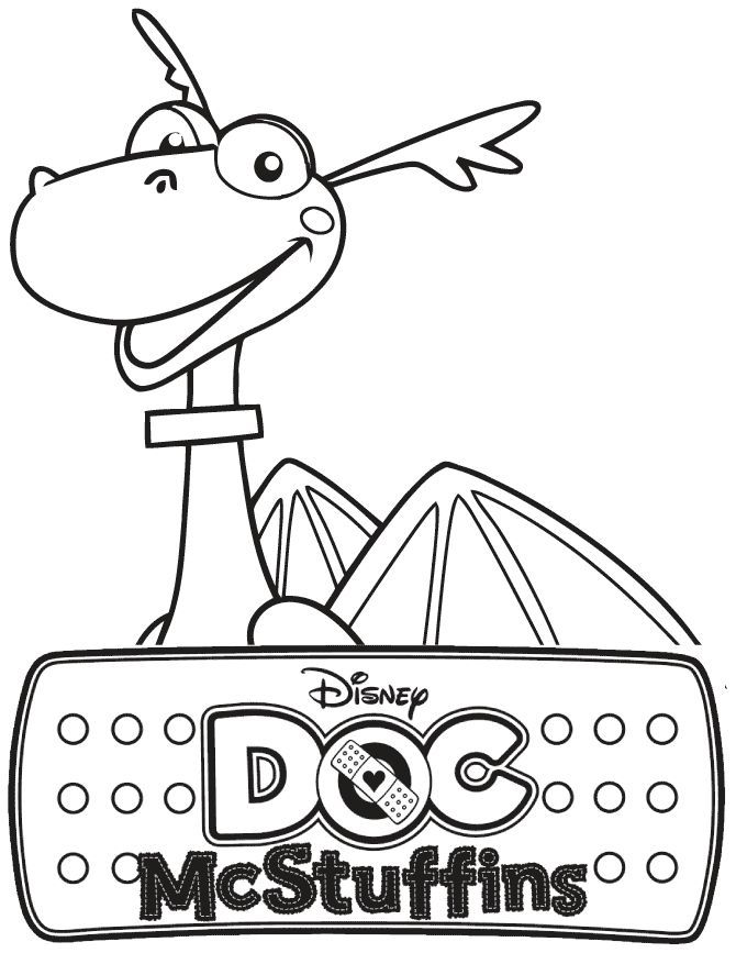 Doc Mcstuffins Stuffy The Dragon Coloring Page Free Printable Doc Mcstuffins Coloring Pages Dragon Coloring Page Doc Mcstuffins