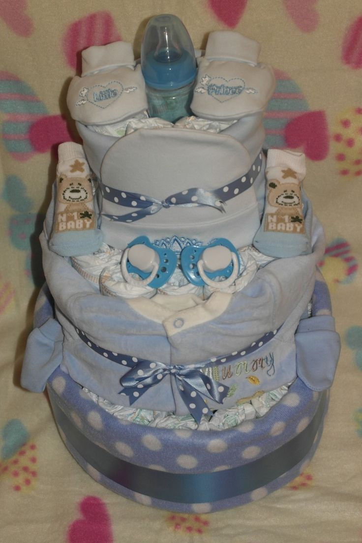 Baby cribs liverpool - Nappy Cakes And Baby Gifts Ginasbabyboom Large Prince Nappy Cake 35 00