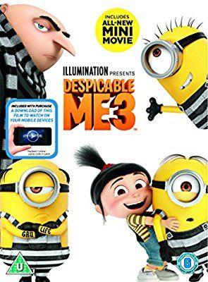 Despicable Me 3 (DVD + digital download) [2017]: Amazon.co.uk: Kyle Balda, Pierre Coffin, Janet Healy, Christopher Meledandri, Cinco Paul, Ken Daurio: DVD & Blu-ray