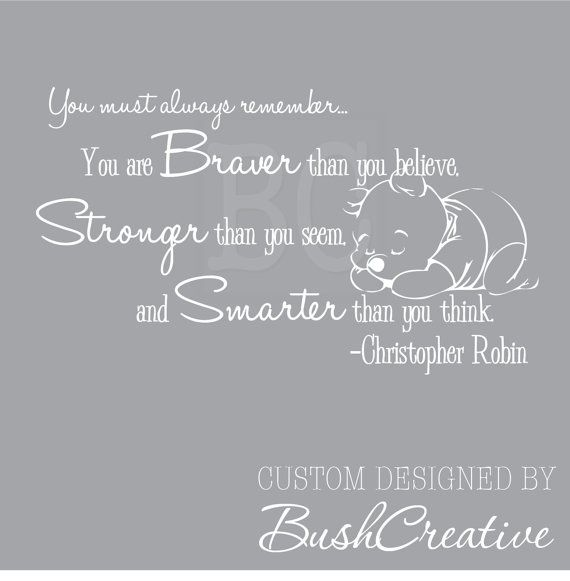 Winnie the Pooh Quote Wall Decal Christopher Robin by bushcreative