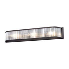 Westmore Lighting Cassia 1-Light 4-In Aged Bronze Rectangle Vanity Light Bar Bb372301