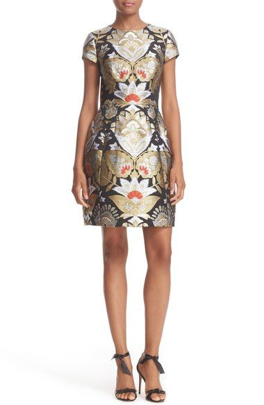 Ted Baker London Imoen Opulent Orient Jacquard Fit & Flare Dress available at #Nordstrom