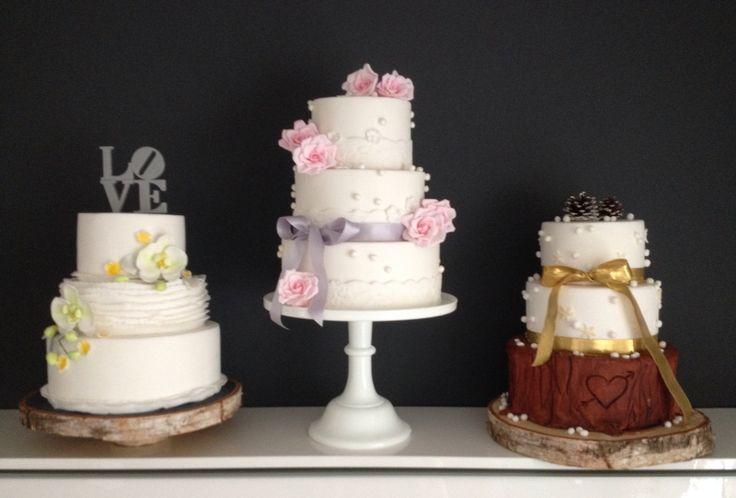 3 verschillende bruidstaarten gemaakt voor de bruidsbeurs.