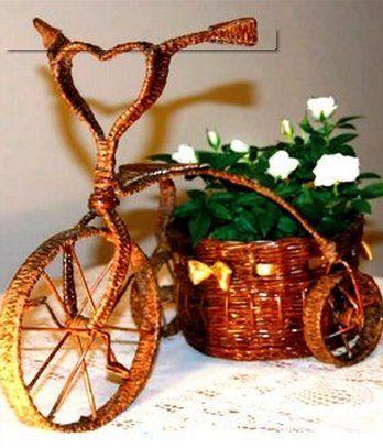 Уникальный подарок кашпо-велосипед
