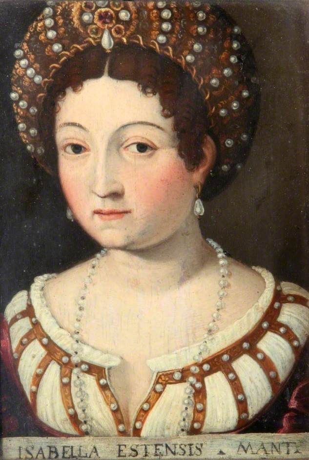 """Isabella d'Este, who recognized that The Renaissance (""""rebirth"""") was a singular light-burst in the otherwise comparatively dim 1200 preceding years, and who on that count """"ran with it,"""" transforming her salon into a small-scale Academy or Andalusia. Humanity owes her many unrecognized debts in art, fashion, and polite society. For these reasons, Isabella was a great soul."""